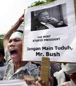 Protest gegen Bush in Indonesien (Foto: dpa)